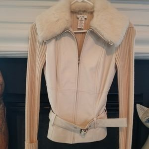 Leather sweater NWOT